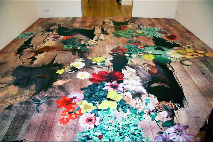 Splintered:  Walls & flooring by Blue Butterfly Flooring