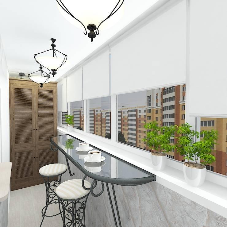 Трехкомнатная квартира в жилом комплексе <q>Онежский дворик</q>: Tерраса в . Автор – Design Rules