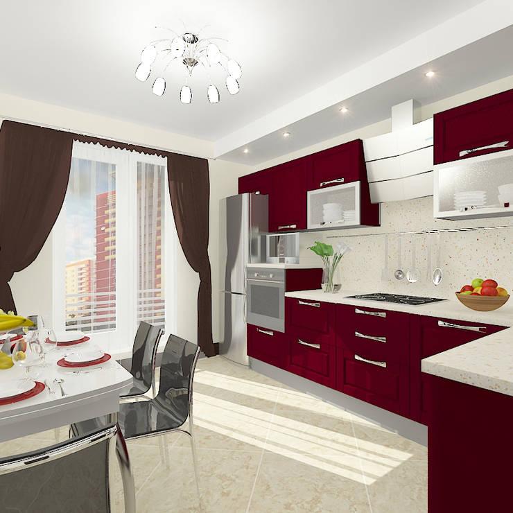 Квартира в жилом комплексе <q>Алиса</q>: Кухни в . Автор – Design Rules,