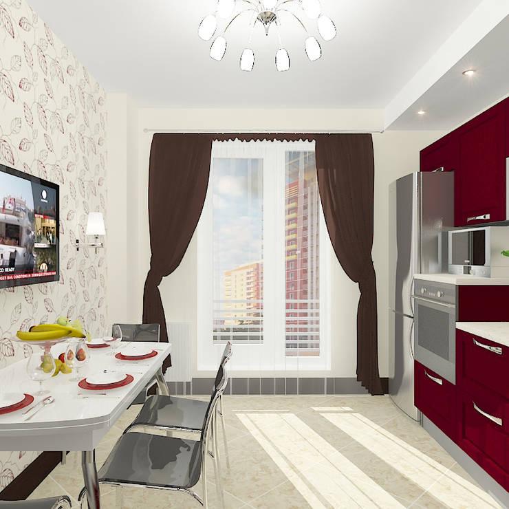 Квартира в жилом комплексе <q>Алиса</q>: Кухни в . Автор – Design Rules