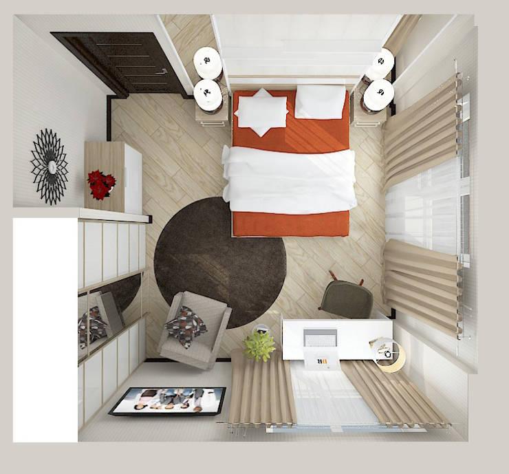 "Квартира в жилом комплексе ""Алиса"": Спальни в . Автор – Design Rules"