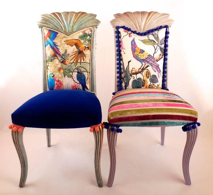 tropische Eetkamer door Motley Chairs