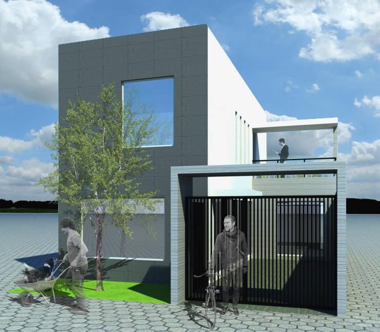 CASA L: Casas de estilo  por ODRACIR