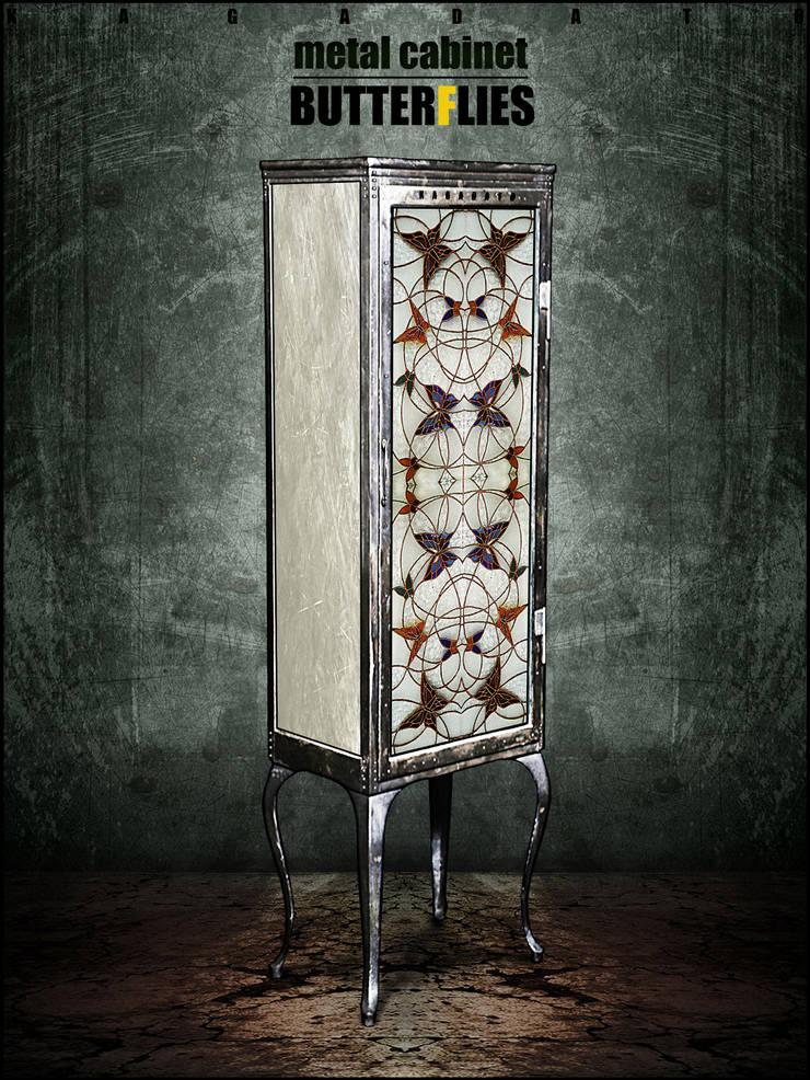 Металлический шкаф - BUTTERFLIES: Гостиная в . Автор – KAGADATO,