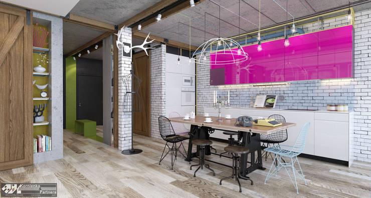 eclectic Kitchen by Kornienko-Partners