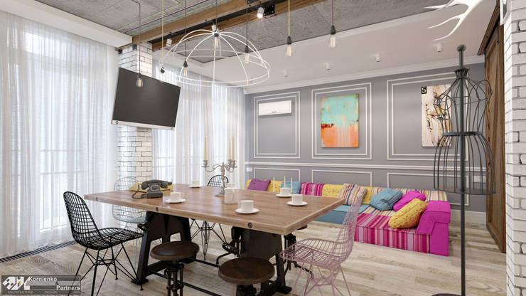 Living room by Kornienko-Partners