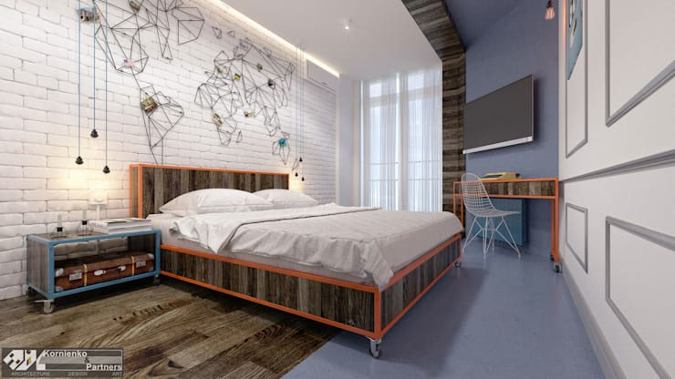 eclectic Bedroom by Kornienko-Partners
