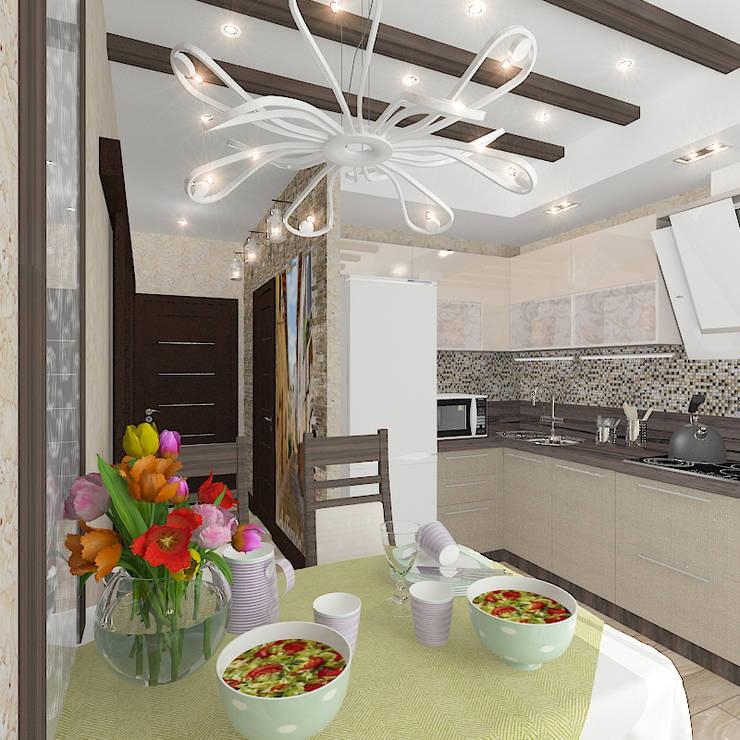 Трехкомнатная квартира: Кухни в . Автор – Design Rules