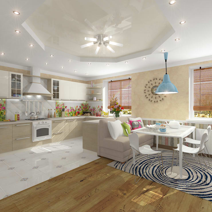 12 cocinas con comedor incluido ideal para casas peque as for Diseno de apartamento de 4x8 mts