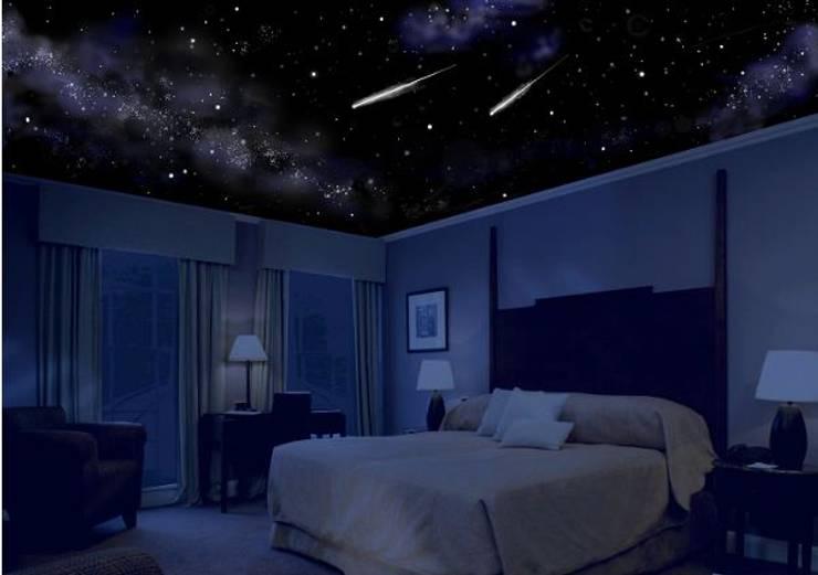 esempio cielo stellato: Camera da letto in stile  di Bluedream