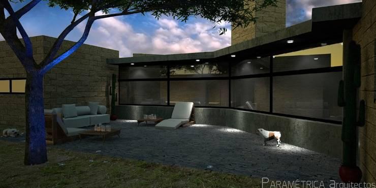 Render de la terraza.: Terrazas de estilo  por Paramétrica Arquitectos