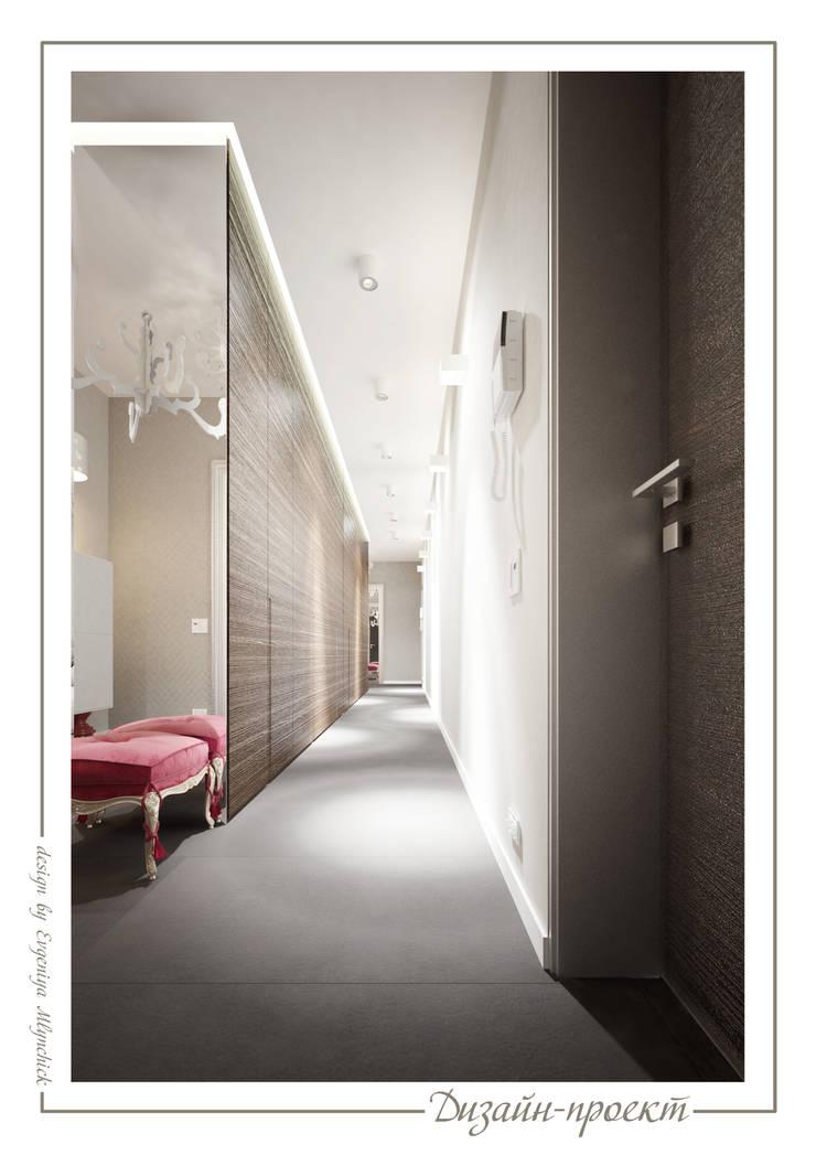 Pasillos y vestíbulos de estilo  de mlynchyk interiors , Ecléctico