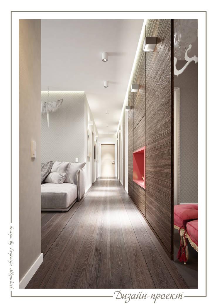 Corridor & hallway by mlynchyk interiors , Eclectic