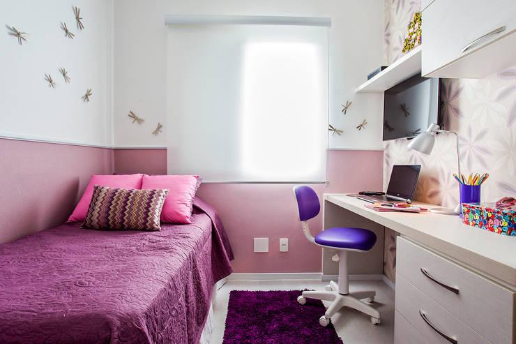 Apartamento São Bernardo: Quarto infantil  por Amanda Pinheiro Design de interiores