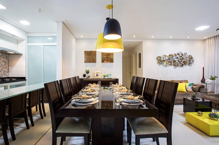 Apartamento São Bernardo: Salas de jantar  por Amanda Pinheiro Design de interiores
