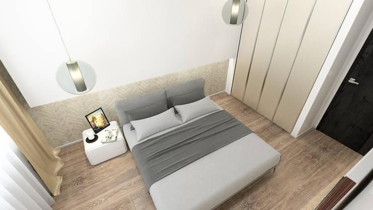 minimalistische Schlafzimmer von DEMARKA