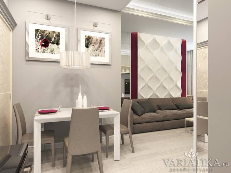 Дизайн квартиры в ЖК Галактика, 50 кв.м.: Гостиная в . Автор – variatika