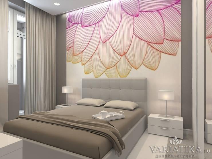 Дизайн квартиры в ЖК Галактика, 50 кв.м.: Спальни в . Автор – variatika