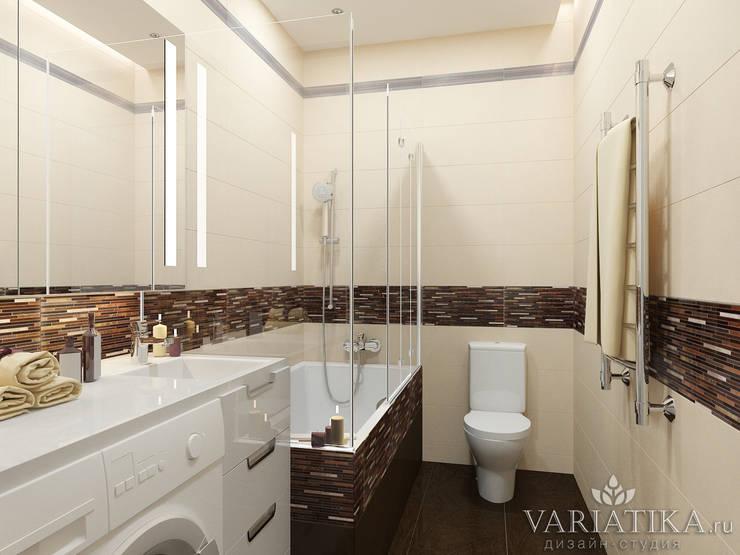 Дизайн квартиры в ЖК Галактика, 50 кв.м.: Ванные комнаты в . Автор – variatika