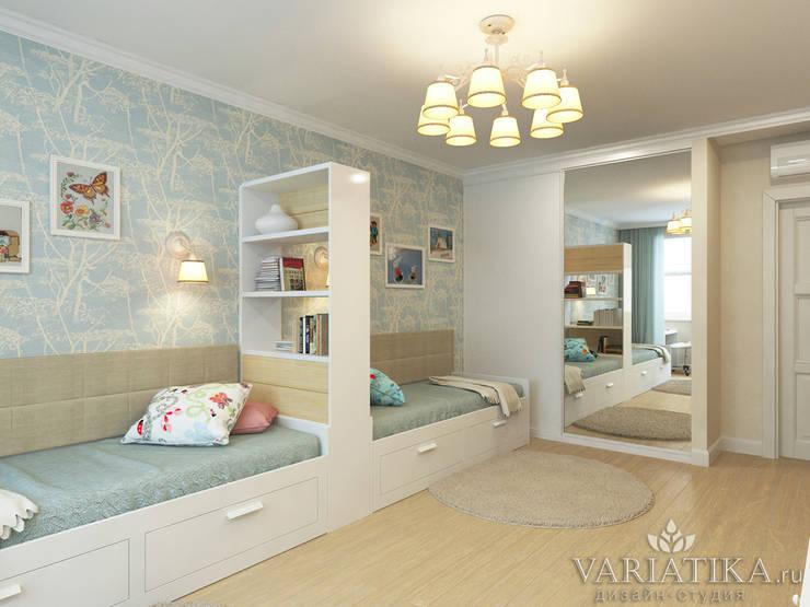 Дизайн интерьера квартиры площадью в г.Мытищи, 100 кв.м. : Детские комнаты в . Автор – variatika