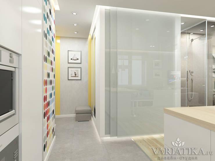 Дизайн квартиры в ЖК Арт, 44 кв.м.: Коридор и прихожая в . Автор – variatika