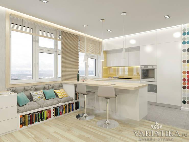 Дизайн квартиры в ЖК Арт, 44 кв.м.: Кухни в . Автор – variatika