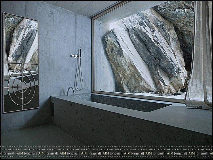 ДИЗАЙНЕРСКИЕ ЗЕРКАЛА: Ванная комната в . Автор – KAGADATO