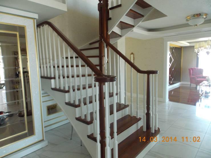 Vizyon mimarlık ve Dekorasyon – N&O.A Evi / Uzunköprü: klasik tarz tarz Koridor, Hol & Merdivenler