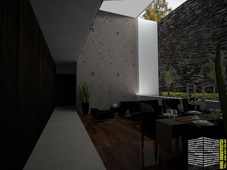 SALA COMEDOR: Salas de estilo  por HHRG ARQUITECTOS