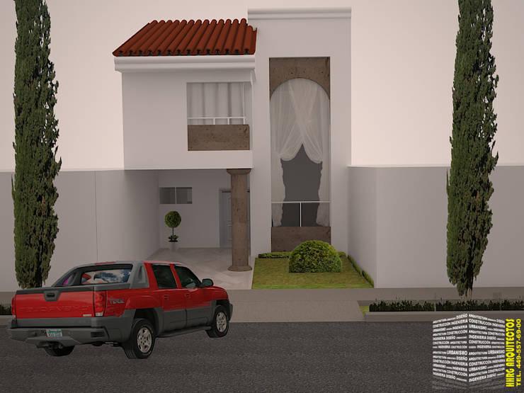 FACHADA CLÁSICA CONTEMPORÁNEA Casas clásicas de HHRG ARQUITECTOS Clásico