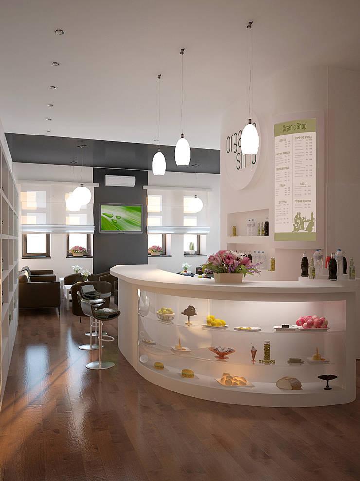 Organic Shop - concept store: styl , w kategorii Powierzchnie handlowe zaprojektowany przez Shtantke Interior Design,Nowoczesny