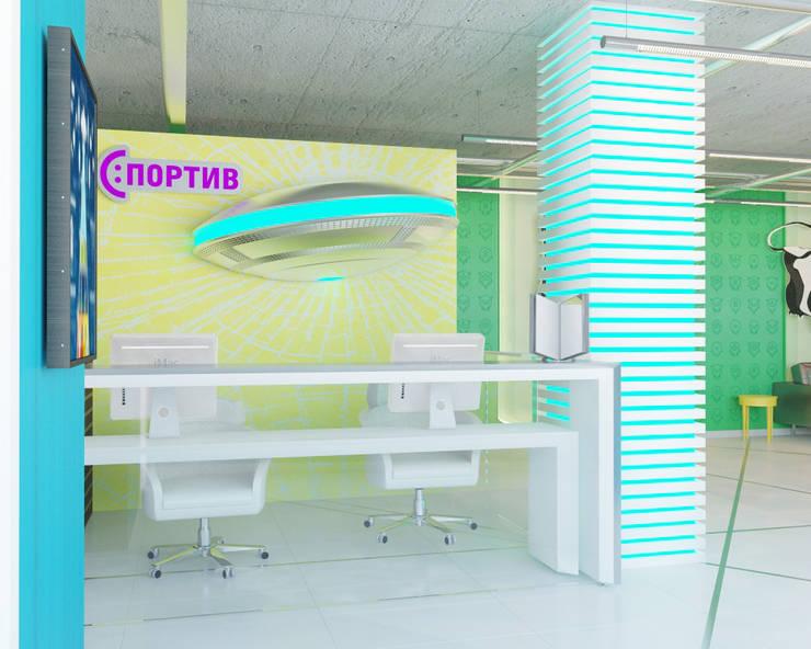 Sportiv GYM: styl , w kategorii Bary i kluby zaprojektowany przez Shtantke Interior Design,Nowoczesny