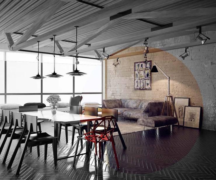 Aerobus: styl , w kategorii Jadalnia zaprojektowany przez Shtantke Interior Design,