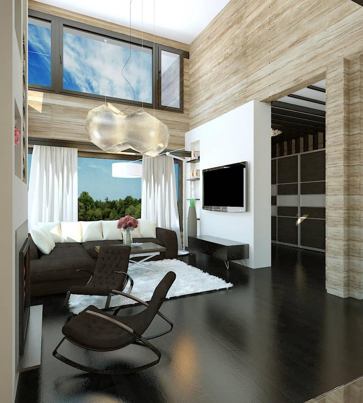 Private House: styl , w kategorii Salon zaprojektowany przez Shtantke Interior Design