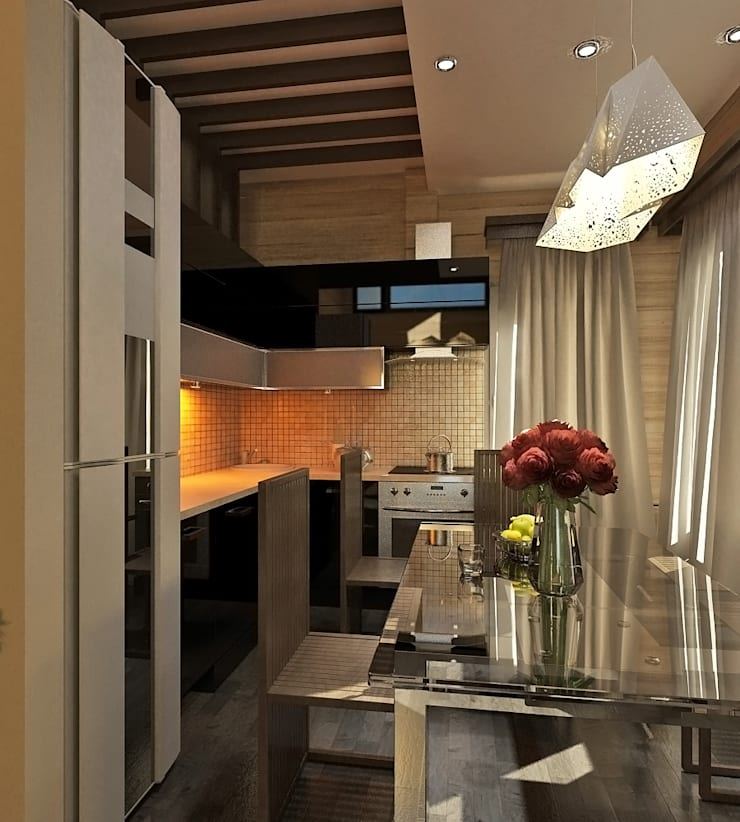 Private House: styl , w kategorii Kuchnia zaprojektowany przez Shtantke Interior Design