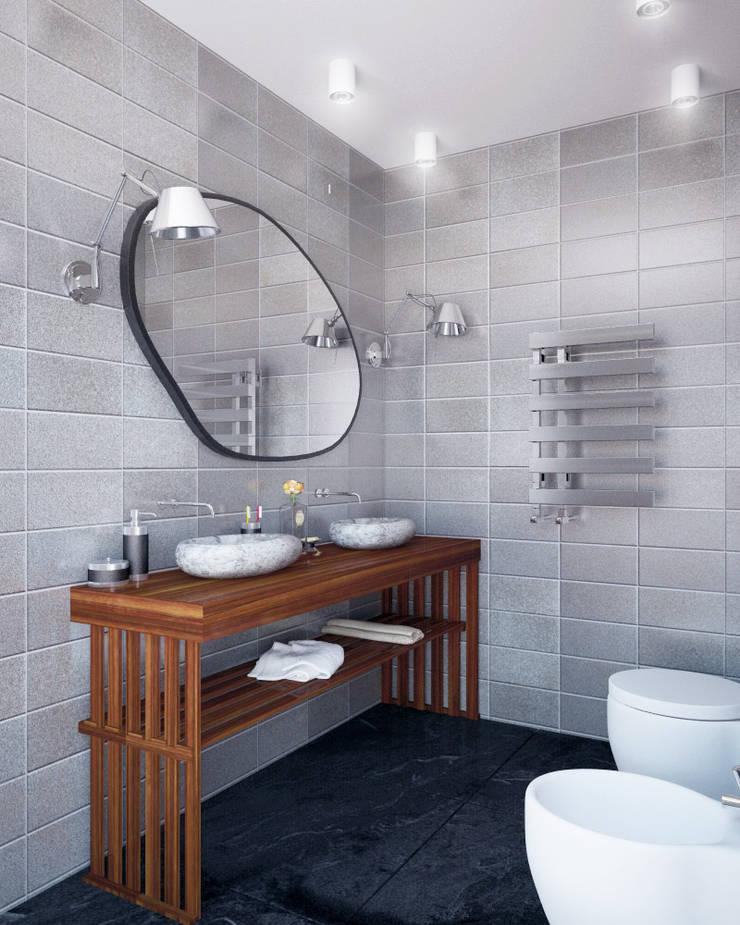 Private house: styl , w kategorii Łazienka zaprojektowany przez Shtantke Interior Design,Nowoczesny