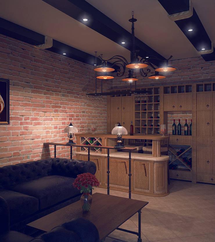 Shtantke Interior Design:  tarz Şarap Mahzeni