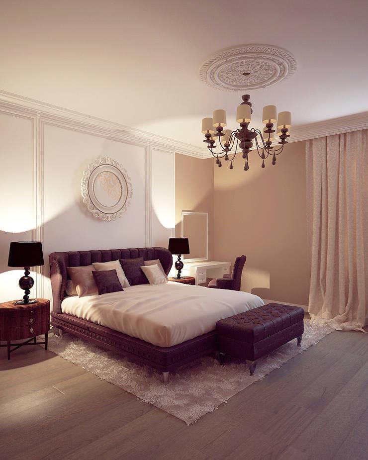 Shtantke Interior Design:  tarz Yatak Odası