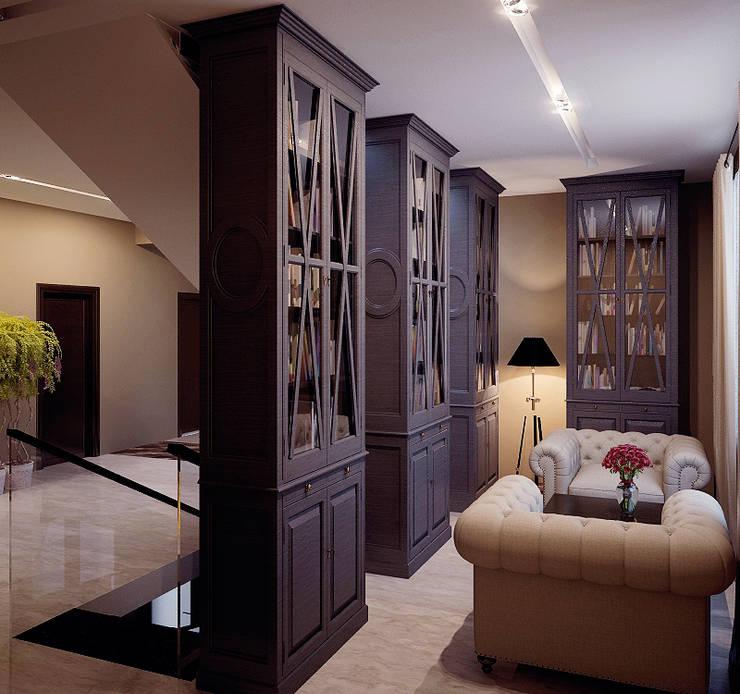Shtantke Interior Design:  tarz Çalışma Odası