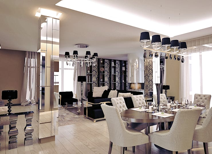 Shtantke Interior Design:  tarz Yemek Odası