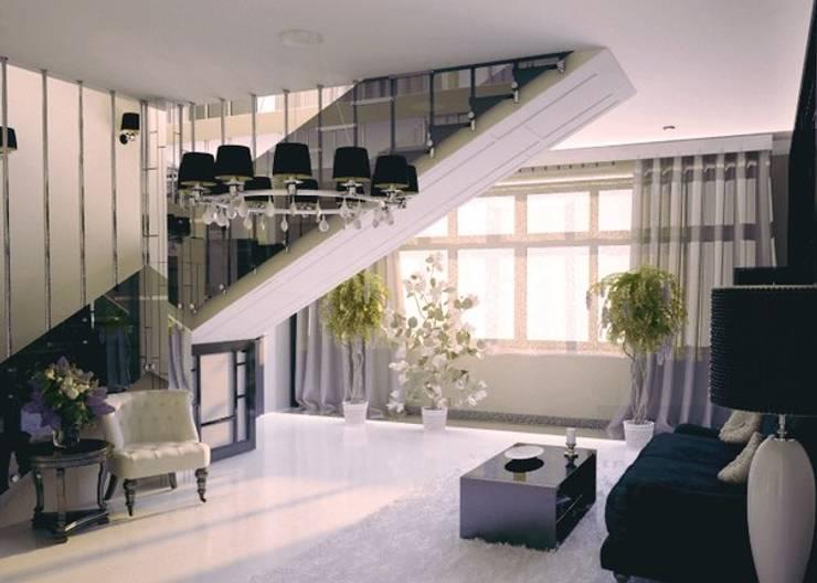 Shtantke Interior Design:  tarz Oturma Odası