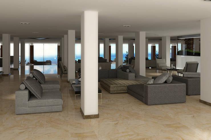 FARGO DESIGNS – HOTEL LOBBY:  tarz Oturma Odası, Modern