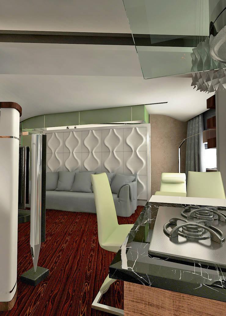 дизайн интерьера : Гостиная в . Автор – Частный архитектор, девелопер, просто хороший человек.