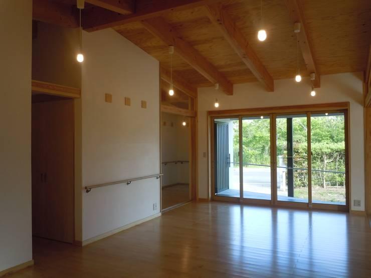 リビング: 青戸信雄建築研究所が手掛けたリビングです。