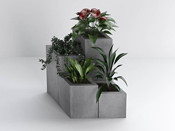 Donice wizualizacja: styl , w kategorii Ogród zaprojektowany przez Bettoni