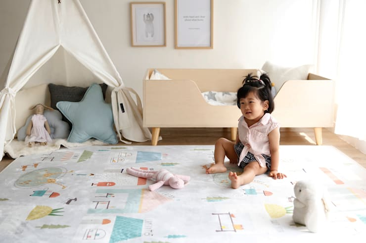 미니멀 빌리지 러그 : (주)데코뷰의  아이 방