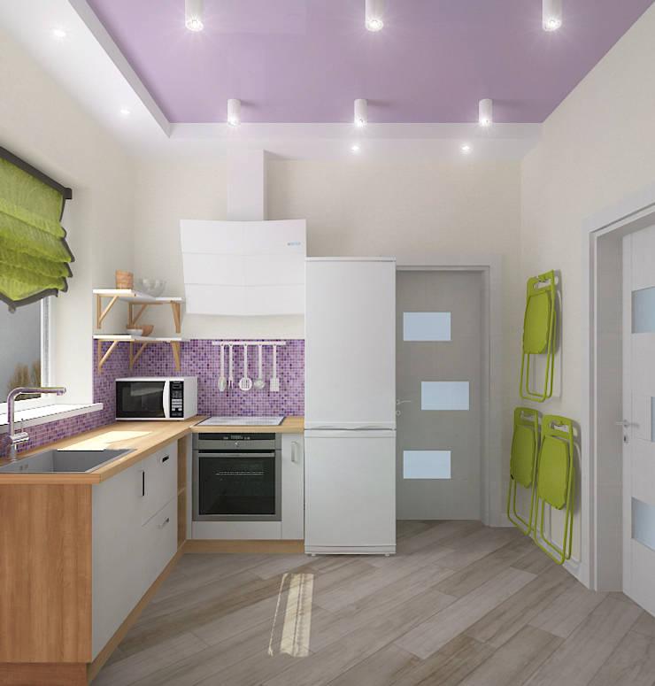 Компактный загородный дом: Кухни в . Автор – Design Rules