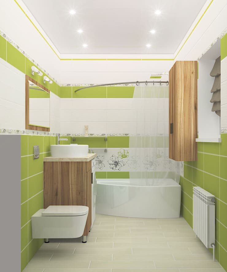 Компактный загородный дом: Ванные комнаты в . Автор – Design Rules