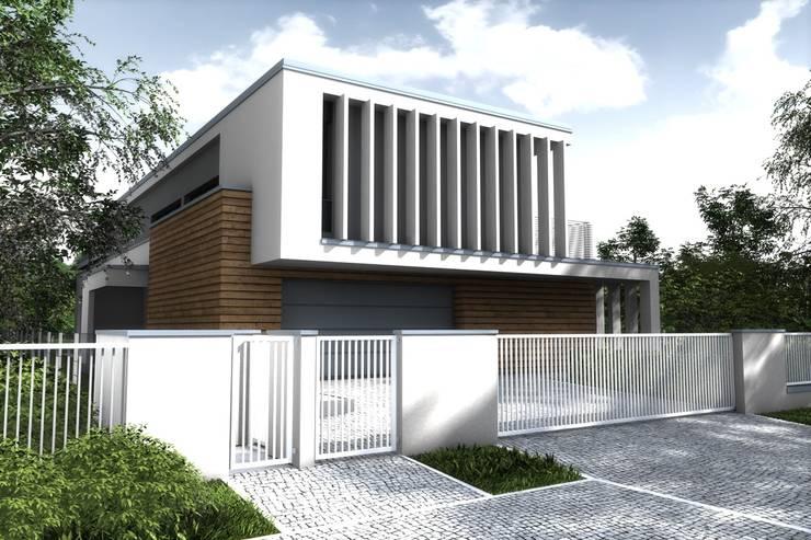 Dom jednorodzinny pod Poznaniem: styl nowoczesne, w kategorii Domy zaprojektowany przez Offa Studio