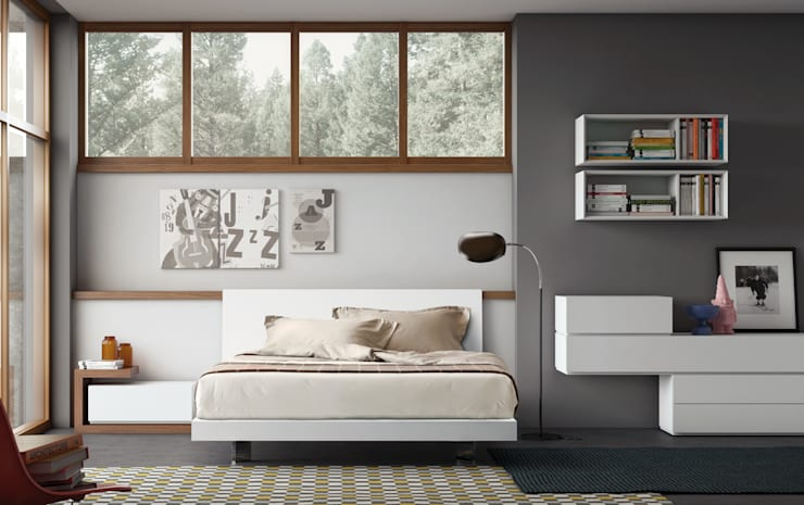 People A : Camera da letto in stile  di PIANCA
